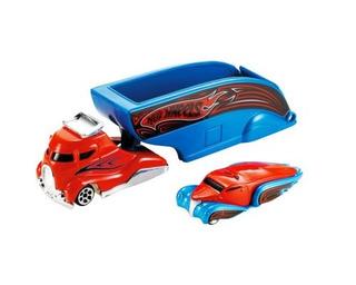 Hot Wheels Truckin Transporters Flip Cabina Abierta Azul Y N