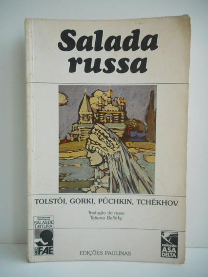 Livro Salada Russa Tolstói, Gorki, Púchkin, Tchêkhov