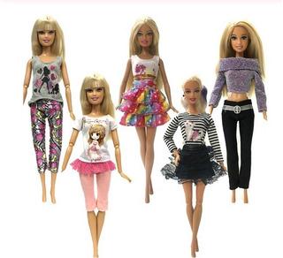 Ropa Barbie Set 5 Conjuntos De Ropa
