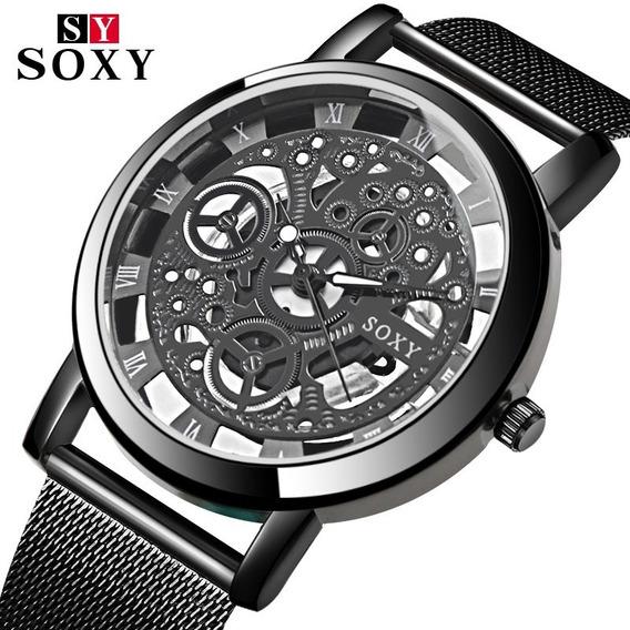 Soxy Relógio 2020 Esqueleto Relógio De Pulso Masculino