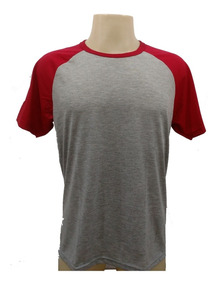 15 Camisetas Raglan Mescla 100% Poliéster Sublimação Atacado