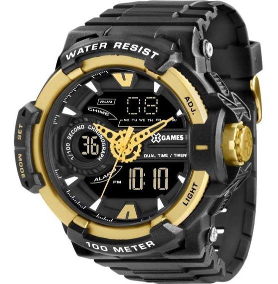 Relógio X-games Masculino Anadigi Dourado Xmppa164 Pxpx + Nf