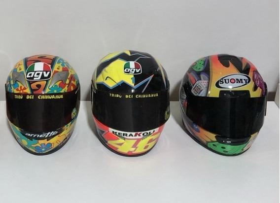 Capacetes Motogp Valentino Rossi/ Jurgen Minichamps 3un 1/2