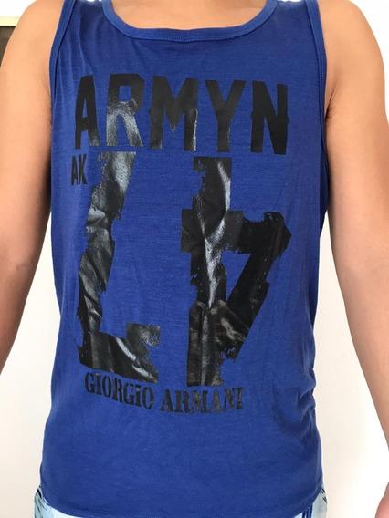 Musculosa Hombre Azul Armany