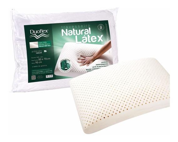 Travesseiro Natural Látex Duoflex 50x70 Altura 16 Cm Ln1100