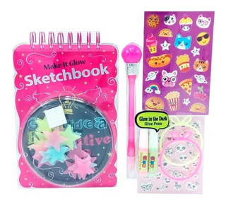 Witty Girls Block Dibujo Sketchbook Glow In The Dark 262 Edu