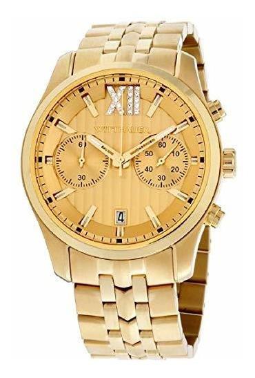 Wittnauer Wn3065 Reloj Para Hombre, Correa De Acero Y Correa
