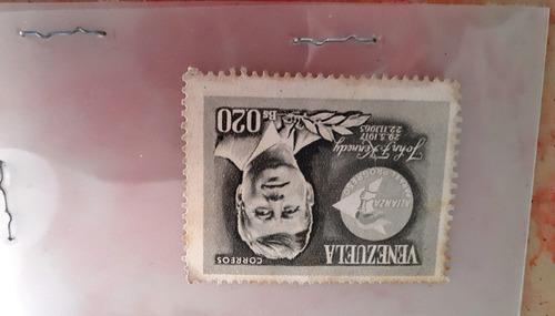Imagen 1 de 2 de Estampilla John F Kennedy 0.20bs Coleccion Coleccionable
