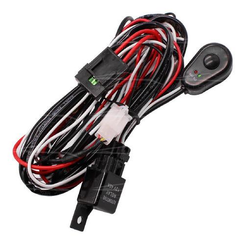 Imagen 1 de 10 de Arnes Instalacion Cable Relay Interruptor Faros Barras Led