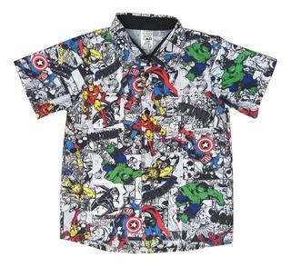 Camisa Vingadores Marvel Gibi Quadrinhos Hq Infantil
