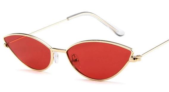 Oculos Vintage Retro Olho De Gato Triangulo Moda + Brinde