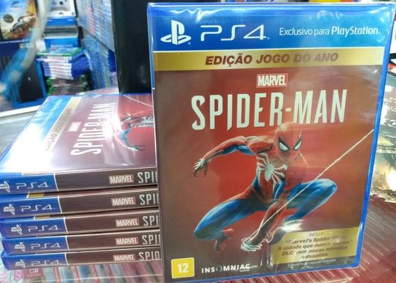 Spider-man Edição Jogo Do Ano Ps4 Mídia Física Novo Lacrado