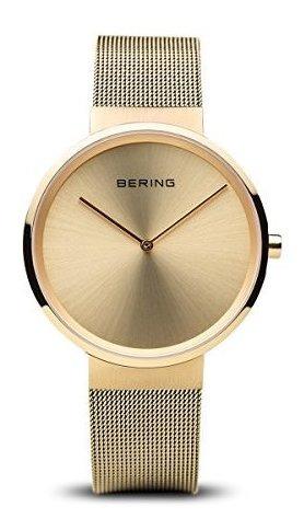 Bering 14539-333 Reloj Analógico De Cuarzo Con Correa De Ace