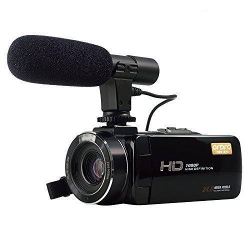 Full Hd Cámara De Vídeo Digital Con Mic Externo, Modelo Hdv