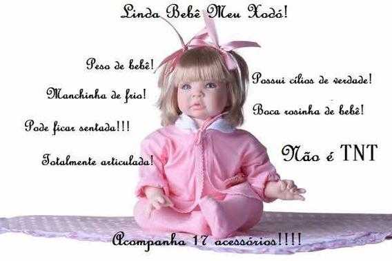 Boneca Barata Bebe Menina Verdade Reborn 16 Itens Cílios