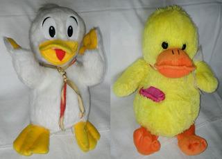 2 Patos De Peluche 30cm De Altura Subte B Excelente