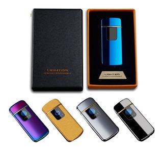 Encendedor Recargable Usb Tactil Touch Metalico Elegante Led