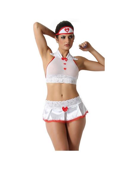 Fantasia Enfermeira Sexy Gg, Brinde Pomada Excitante Luby 4g