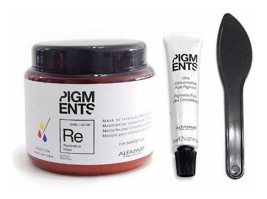 Kit Alfaparf Pigments Mascara Reparadora + Concentrado Color