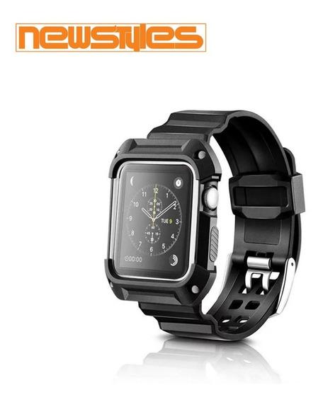 Pulseira + Case 360 Apple Watch Esportivo Tpu 38mm 42mm