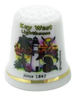 Faro De Key West Florida Bandera Perla Souvenir Coleccionab