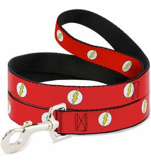 correa Para Mascotas - Flash Logo Rojo / Blanco / Amar...