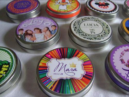 50 Latitas Persinalizadas Souvenirs. Sticker Superior