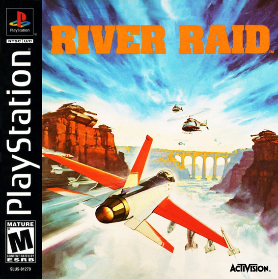River Raid - Jogo Do Atari 2600 Para Playstation 1 - Psx Cd