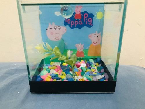 Aquário  Beteira Decorada Peppa Pig + Brinde 12x8x12