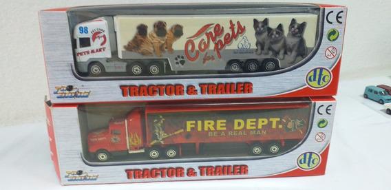 2 Caminhões Tractor & Trailer Escala Ho 1:87 Usados Imports