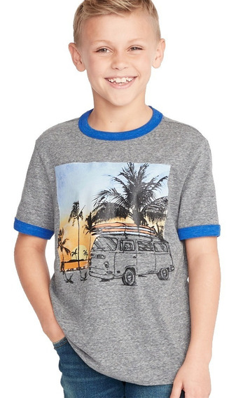 Playera Niño Manga Corta Estampada 392600 Old Navy