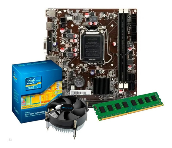 Kit Intel I5 2400s 3.3 Ghz + Placa H61 + 8gb Ram + Nfe