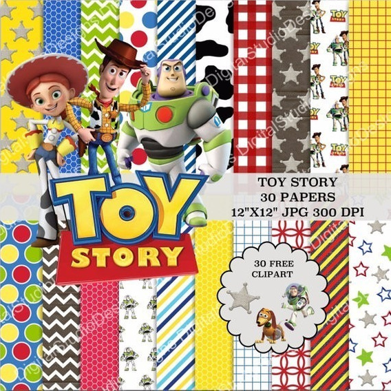 Kit Imprimible Toy Story 30 Fondos 30 Clipart Ver Promo