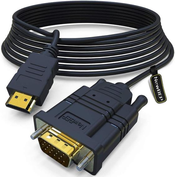 Cable Adaptador Hdmi A Vga, Newbep 5.9ft, Chapado En Or...
