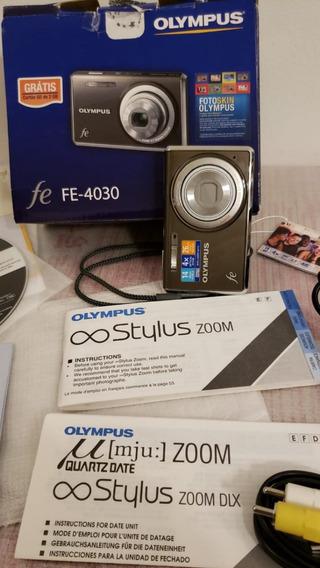Camera Digital Olympus Fe-4030 Semi Nova C/todos Acessórios