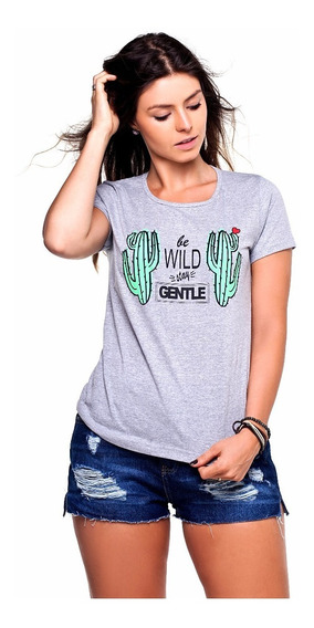 25 Blusas T-shirts Feminina Atacado Blogueira 100% Algodão