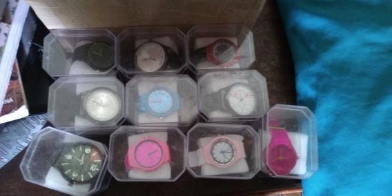 Kit 10 Relógios Masculinos E Femininos