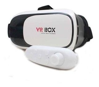 Óculos 3d Cardboard Realidade Virtual Android Ios + Controle