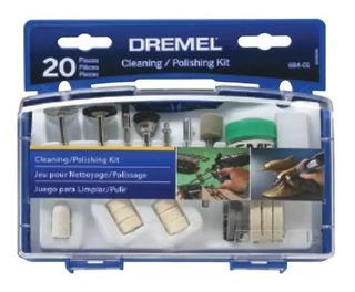 Kit Multiuso Dremel 684 20 Accesorios Para Mini Torno Caja