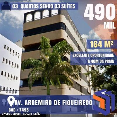 Apartamento Para Venda Em João Pessoa, Jardim Oceania, 3 Dormitórios, 3 Suítes, 1 Banheiro, 2 Vagas - 7495