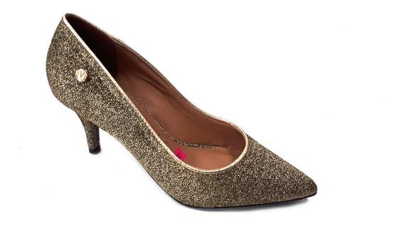 Zapato Vizzano Punta Fina Taco Bajo 7cm Glitter