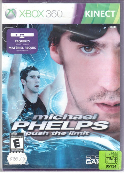 Michael Phelps Push The Limit Xbox 360 Mídia Física Lacrado