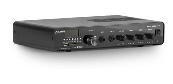 Receiver Amplificador Som Ambiente Frahm Slim 2000 App Bt Fm