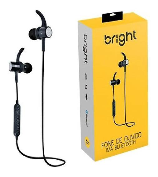 Fone De Ouvido Imã Bluetooth Preto 0511 Bright