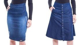 2 Saias Evangélica Jeans Combo Promocional