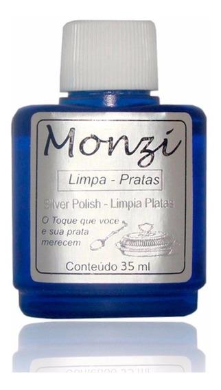 Limpa Prata Monzi Pequeno 35ml Polimento Original Azul