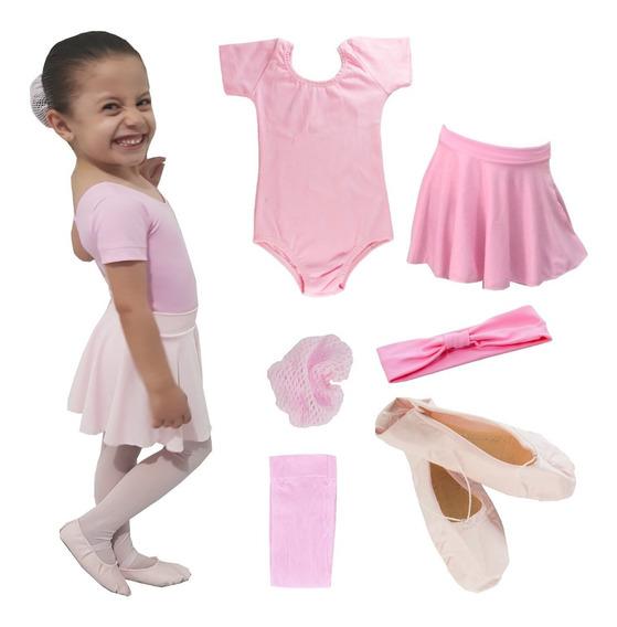 Kit Roupa Uniforme Figurino Ballet Conjunto Bailarinas