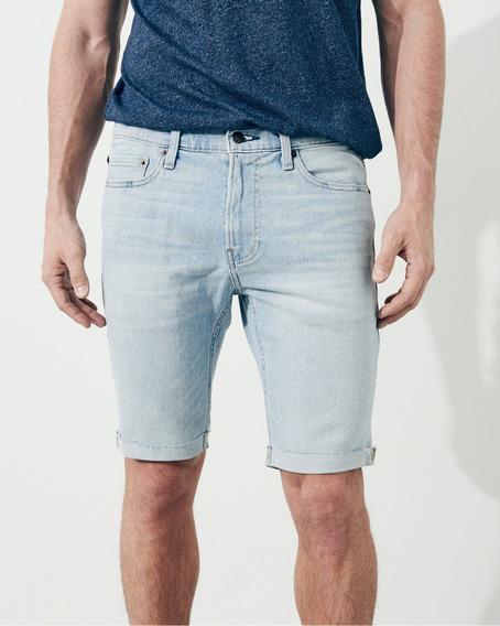 Bermuda Jeans Hollister Masculina Super Skinny 40