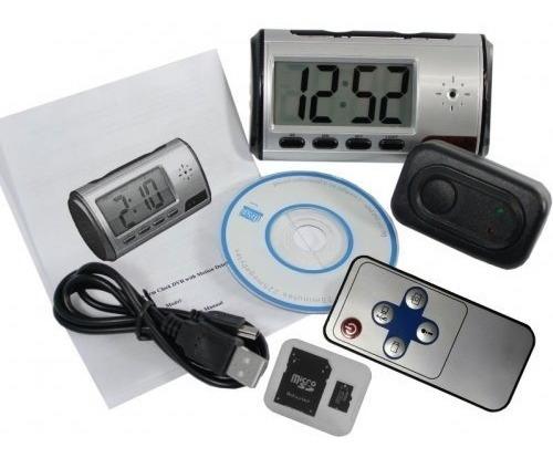 Reloj Despertador Con Camara Oculta Y Detector Movimiento