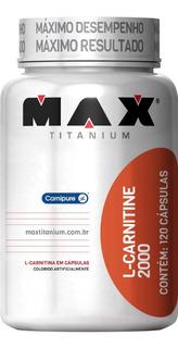 L- Carnitine 2000mg - 120 Cápsulas - Max Titanium